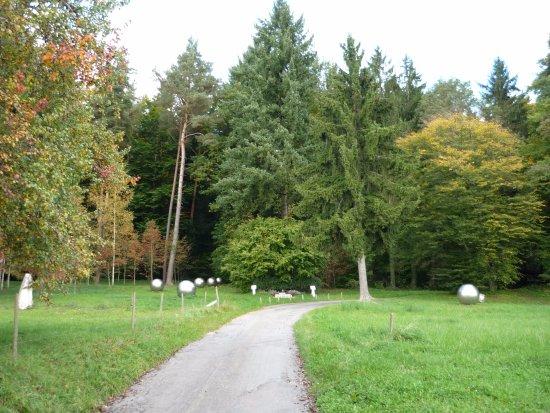 Überlingen, Tyskland: Дорожка, ведущая к памятнику