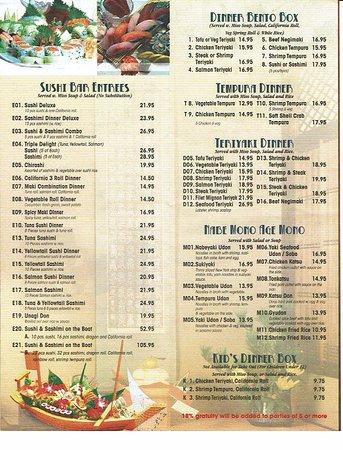Elmira, Nowy Jork: menu
