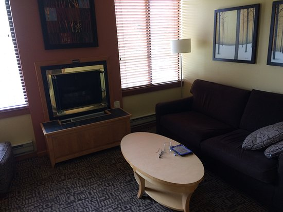 Mountainside Lodge: living area
