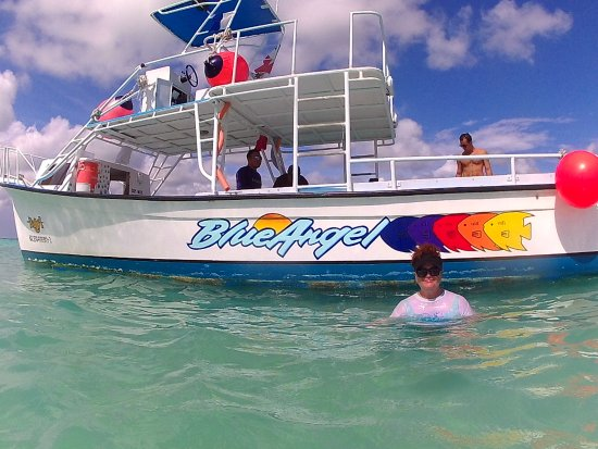 Blue Angel Resort: The Blue Angel dive boat.
