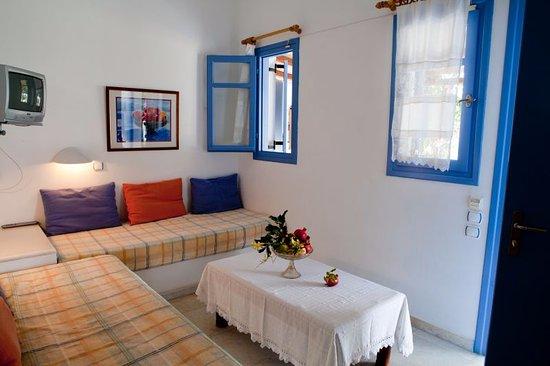 Ilios of Paros: The seating room of a studio