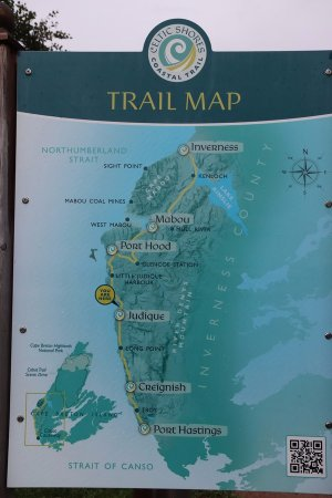 The trail map - Picture of Celtic Ss Coastal Trail, Cape ... on nova scotia map, bay of fundy map, dallas island map, cayo costa island map, labrador island map, devon island map, pleasant bay map, st. paul island map, baffin island map, laurentian mountains map, st. catharines map, canada map, atlantic provinces map, ottawa island map, aurora island map, gloucester island map, cabot trail map, snake island map, peggy's cove map, island nautical map,