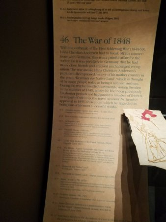 Hans Christian Andersen Museum: One example of the chronological history of his life
