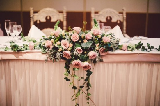 Shangri La Gardens Pink Roses Bouquet Bridal Table & Watermelon Themed Wedding Table Setting - Picture of Shangri La ...