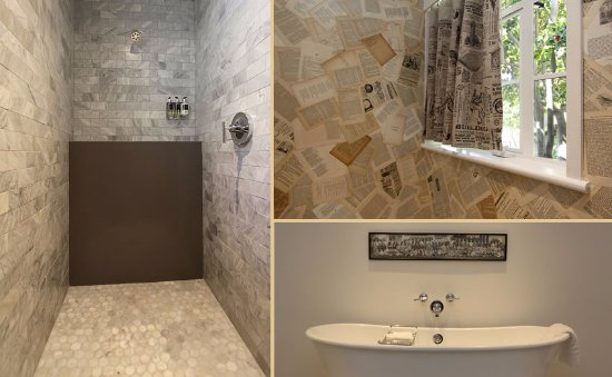 Cutting edge design elements. Marble showers, free standing tubs, WC ...
