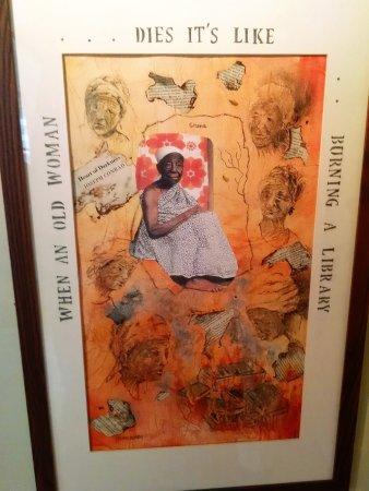Pawleys Island, Carolina del Sur: Impressive painting of African woman