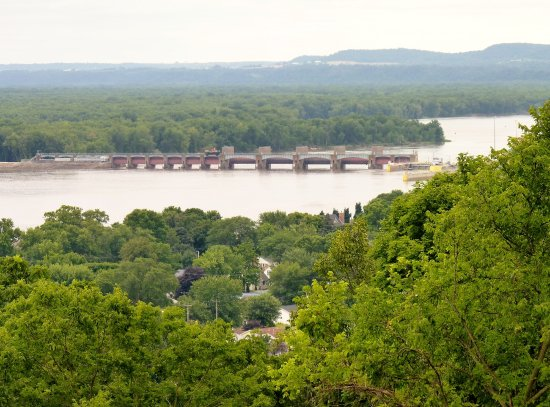 Beautiful town of Guttenberg, Iowa located right at Lock and Dam # 10
