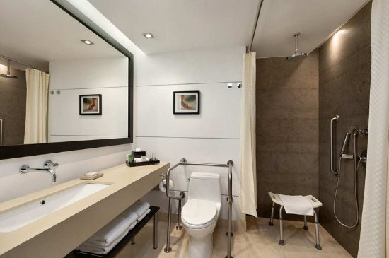 Hilton Bogota: Accessible Bathroom Roll-In Shower