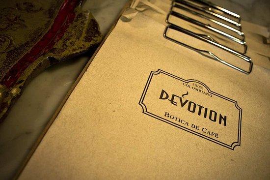 Hilton Bogota: Devotion menu