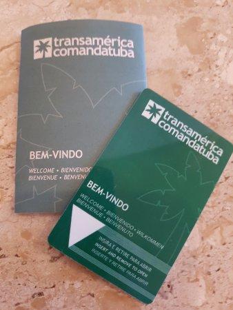 Hotel Transamerica Ilha de Comandatuba: Cartão de acesso ao quarto...