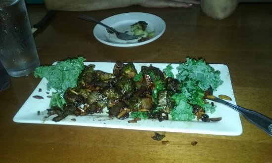Placerville, CA:  seared bussell sprouts as a appetizer