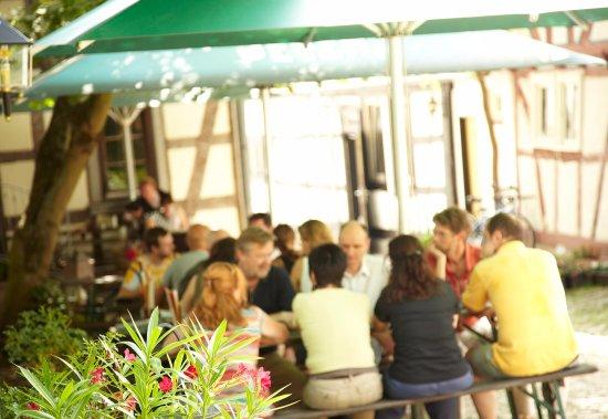 Friedrichsdorf, Deutschland: Terrasse des Café Klatsch
