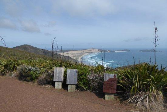 Île du Nord, Nouvelle-Zélande : The vista to the south and Cape Maria van Diemen