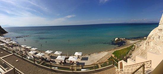 Sani, Greece: Виды из отеля и фото еды
