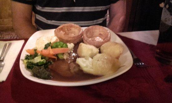 Fawkham, UK: Roast Lamb dinner