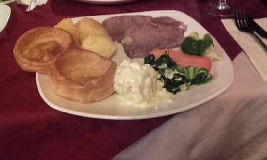 Fawkham, UK: Roast Beef Dinner