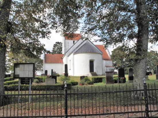 Kivik, السويد: kirken set fra vejen