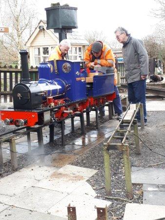 Lewes, UK: Bentley Miniature Railway Yard