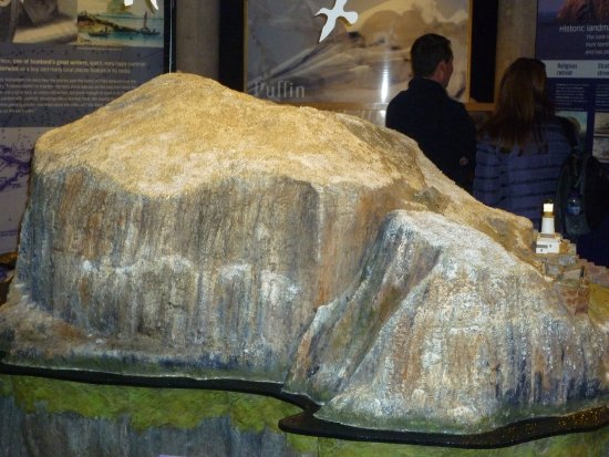 Scottish Seabird Centre: Model of the Bass Rock in the Centre