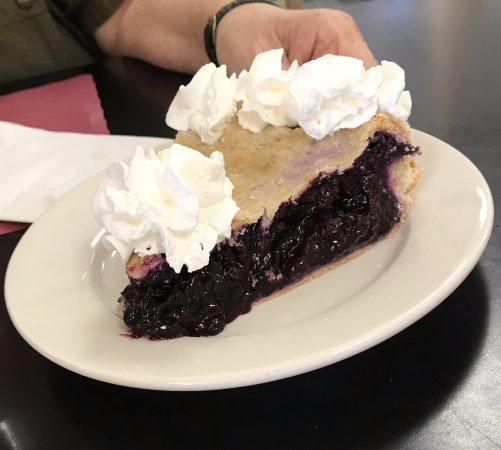 Greenwich, NY: A Slice of Homemade Blueberry Pie w/Whipped Cream (optional)