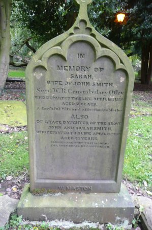 a grave near the door picture of otley parish church otley
