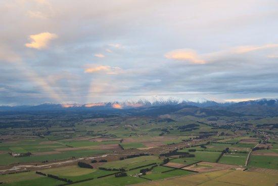 Darfield, Yeni Zelanda: Beautiful scenery seen during the flight
