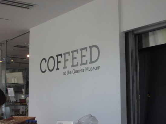 Flushing Meadows Corona Park: Coffee bar in Queens Museum, inside Corona Park