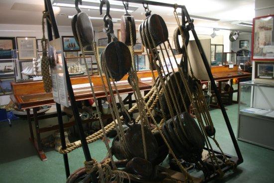 Arklow Maritime Museum: Als je dit ziet wil je nooit op een zeilschip werken