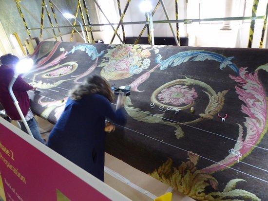 Saltram (National Trust): Meticulous carpet repair