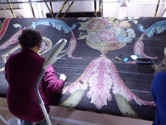 Saltram (National Trust): More carpet repair