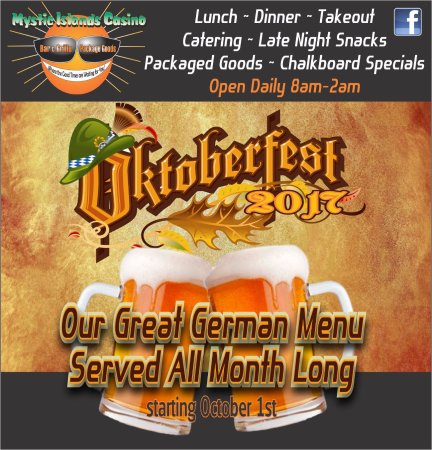 Tuckerton, Nueva Jersey: Our Oktoberfest menu is not to be missed!