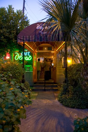 Strreet view of Cafe Degas on Esplanade Avenue, New Orleans