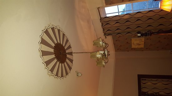 Leominster, UK: Not very good. One pic is of the curtain pole which hit my wife on the arm as it fell from the w