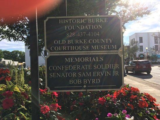 Morganton, NC: Historic Burke Foundation and Memorials