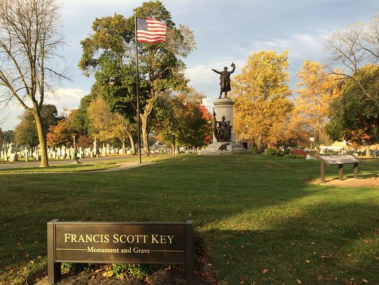 Frederick, MD: Monument and final resting place of Francis Scott Key (1779-1843)
