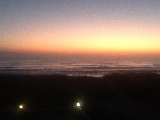 Best Western Ocean Reef Suites: Sunrise over Atlantic Ocean as viewed from 4th floor terrace