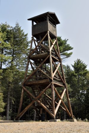 Tuftonboro, NH: The tower with easy to climb stairs up to the top!