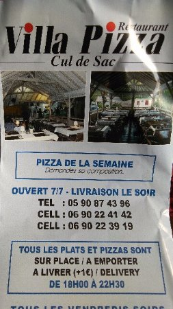 Cul de Sac, St-Martin / St Maarten: Villa Great tasting food . Pizza and drinks