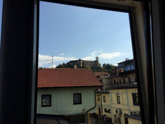 Hotel Emonec: Il castello dalla finestra della stanza