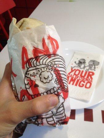 Dolores: Fully stuffed burrito