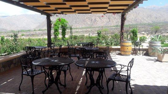 Comedor exterior - zona de fuegos - Picture of Piattelli Winery ...