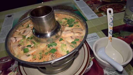 Roseburg, OR: it's a flaming tub of awesome coconut shrimp soup!