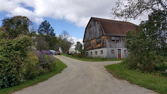 Hartland, VT: View of one of the barns on the grounds.