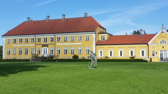 Maribo, Denmark: Engestofte is a Neoclassical manor house located island of Lolland