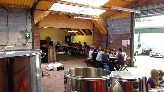 Battle, UK: Customers enjoying the beer