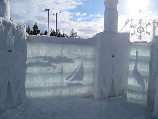‪‪Kalajoki‬, فنلندا: the ice walls in the snow castle‬
