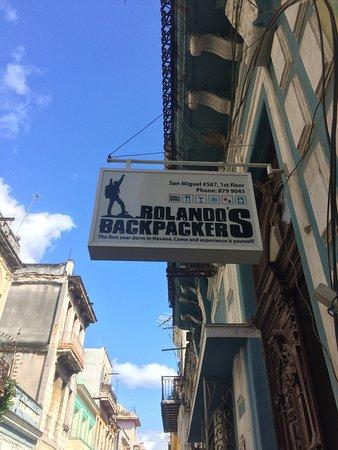 Rolando's Backpackers : Right over the door