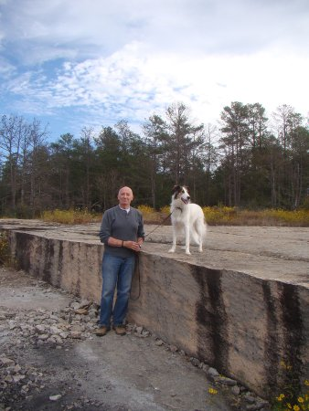 Lithonia, GA: Amber and me...she jumped right up here to get a better view.