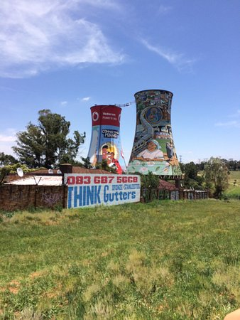South Western Townships: Cooling towers from Soweto
