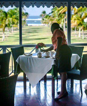 Nevis: Daily afternoon tea served on the Great House screened-in verandah